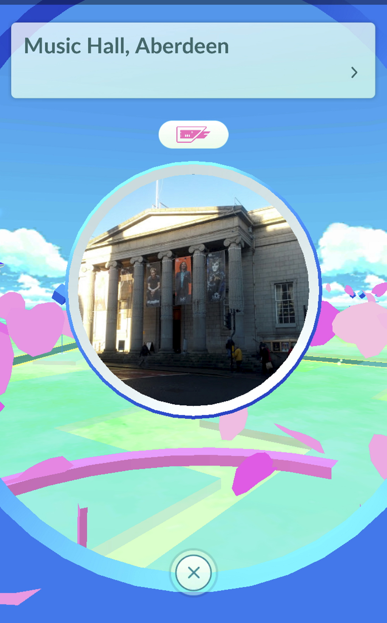 Aberdeen's Music Hall is a pokestop in the game.