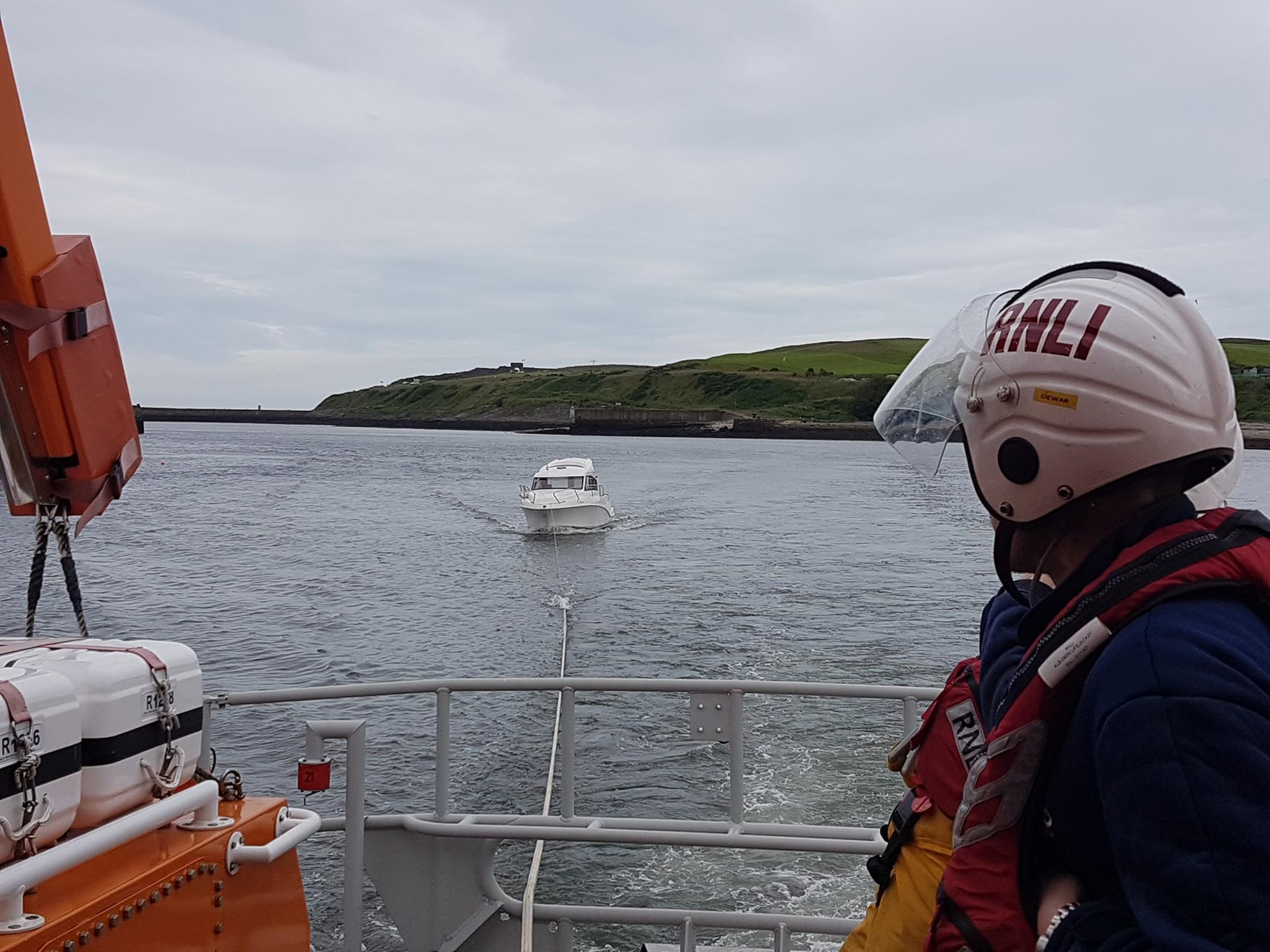 The boat was taken to Aberdeen Harbour. Picture: Aberdeen Lifeboat.