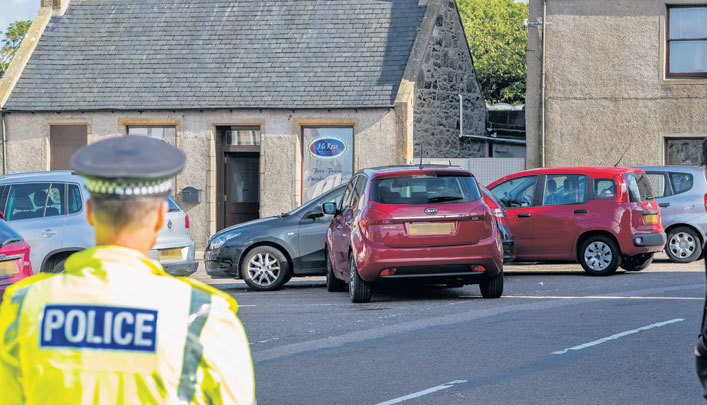 The incident happened in Portsoy.