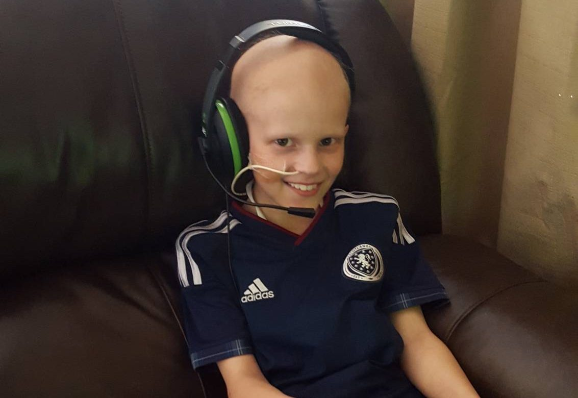 Finlay chats to his pals back home on his xbox which we bought here for him and will be donating it to procure for another family once we leave