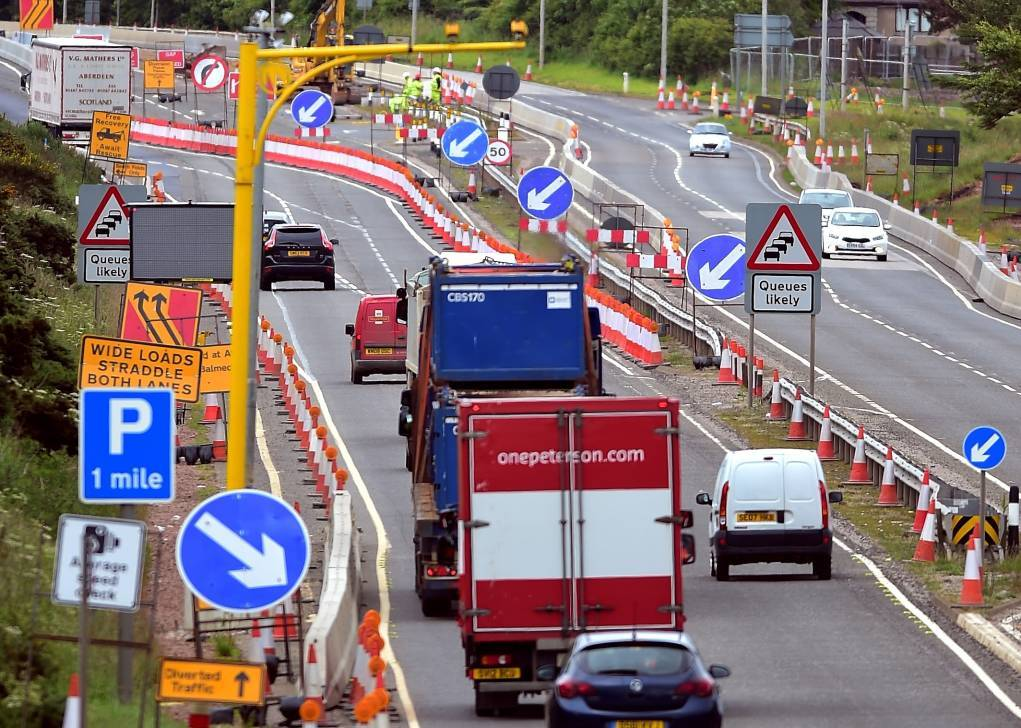 The speed limit on a section of the A90 is to be cut further during certain periods.
