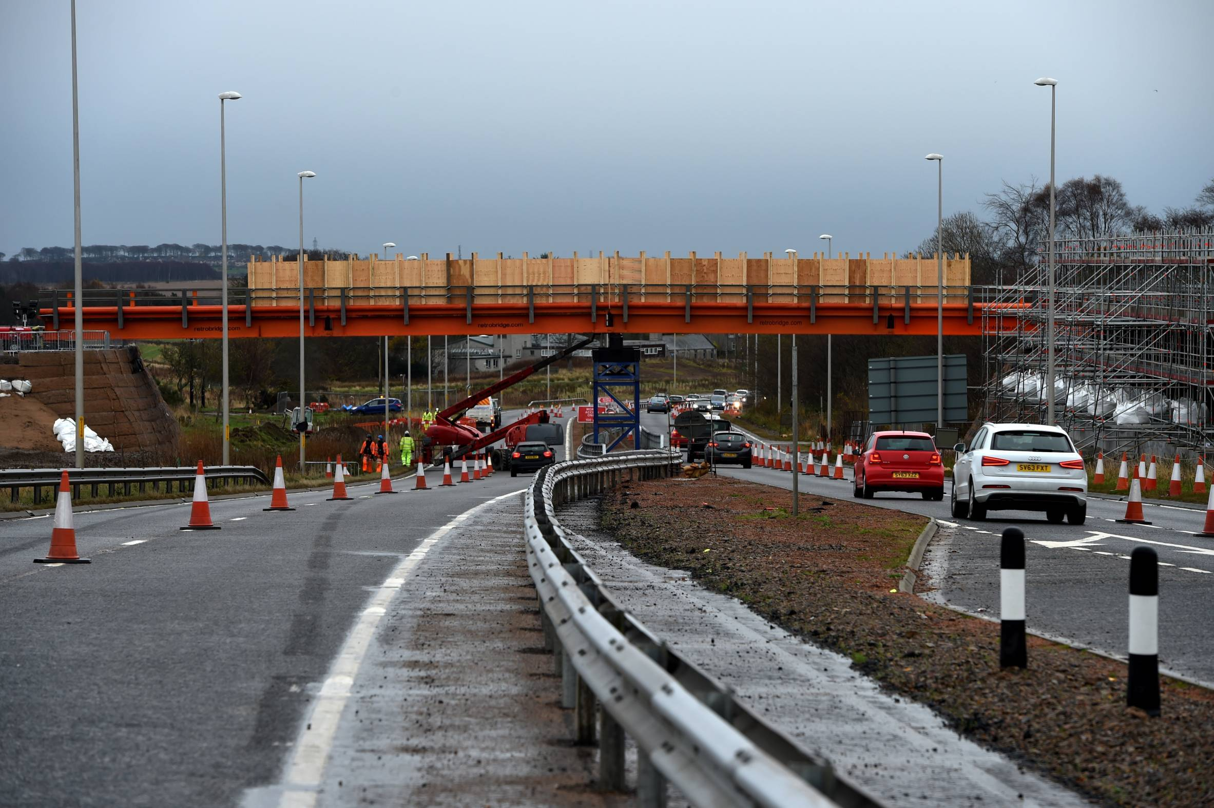 Work is currently taking place around the A96 for the AWPR.