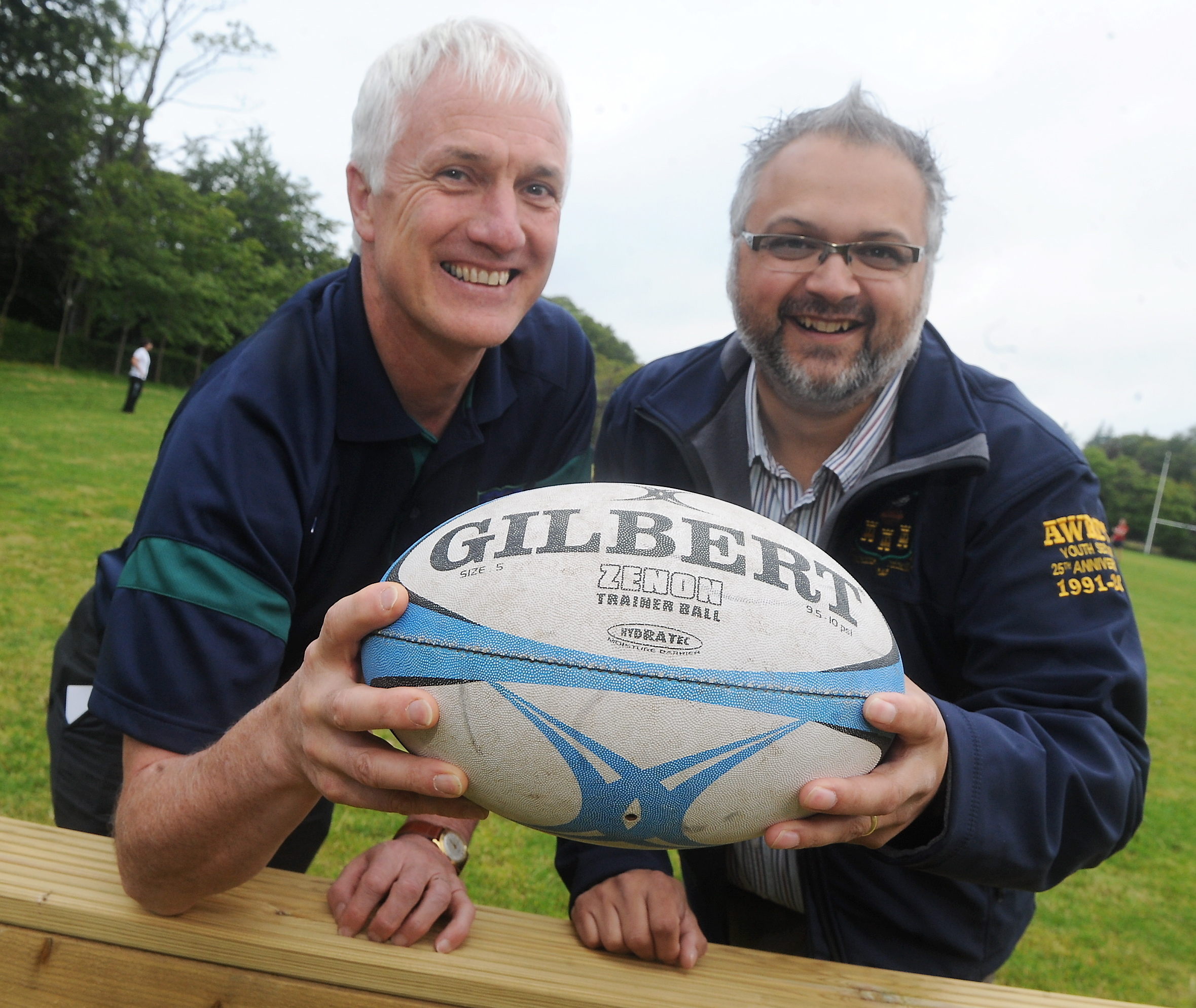 Aberdeen Wanderers   club president Bernard Mullins, left, and Guy Mullinor, president of the youth teams.