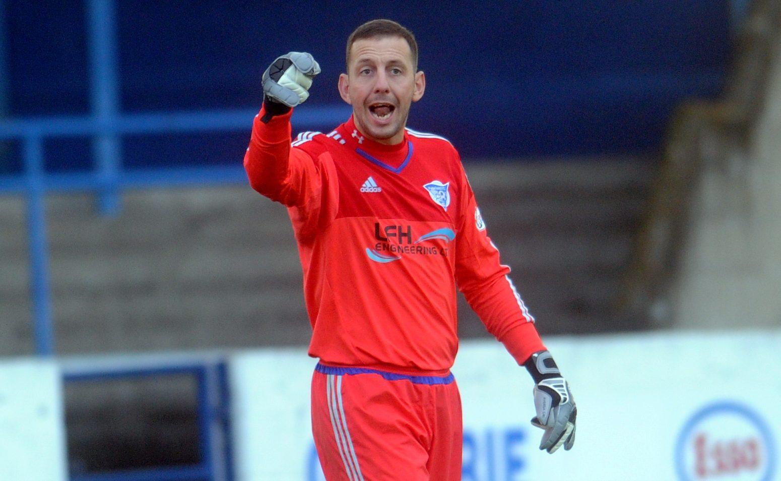 Peterhead keeper Graeme Smith.