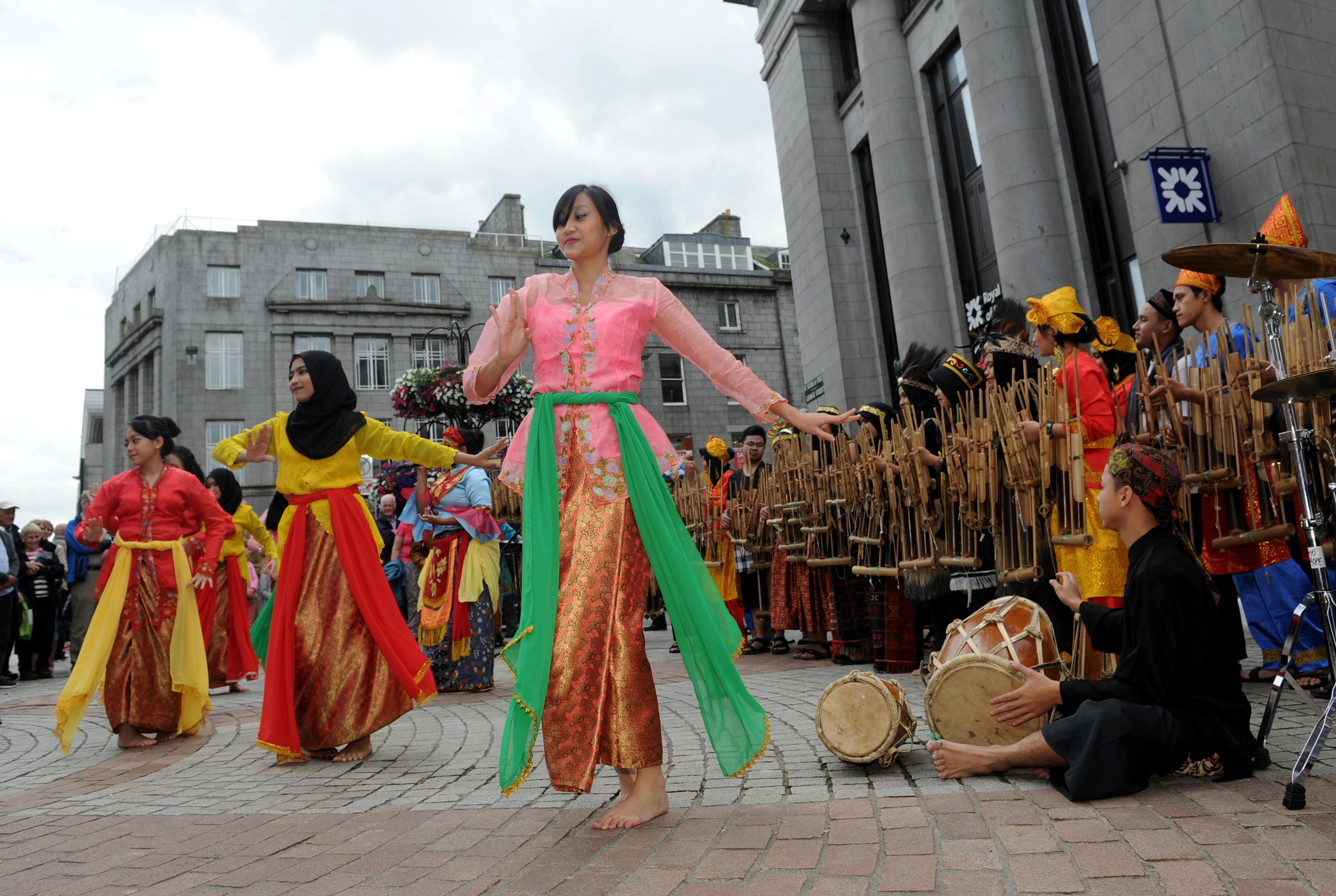 The Tim Muhibah Angklung Group were among performers taking part in the festival launch events across the city.