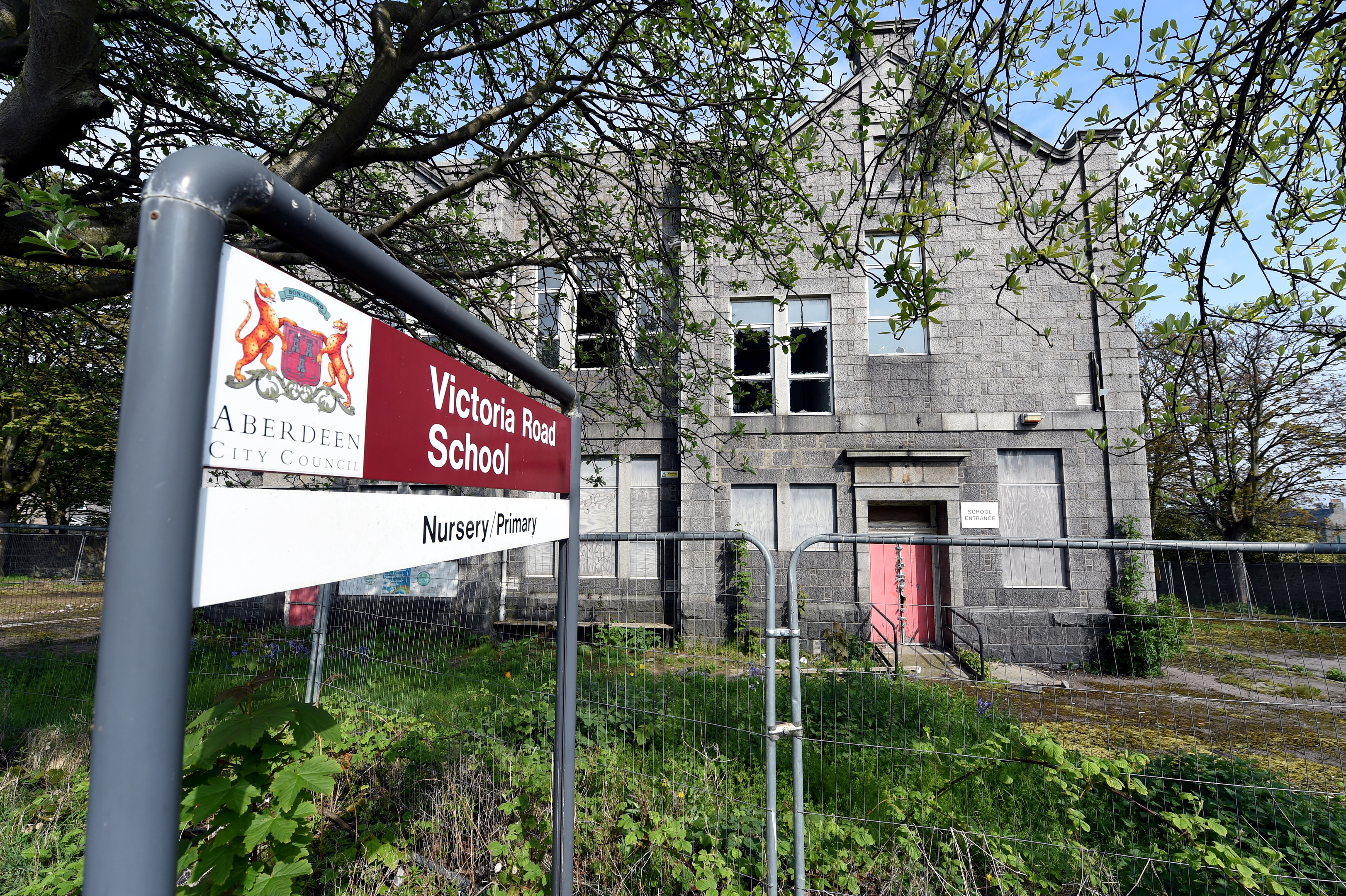 The former Victoria Road Primary School site in Torry.