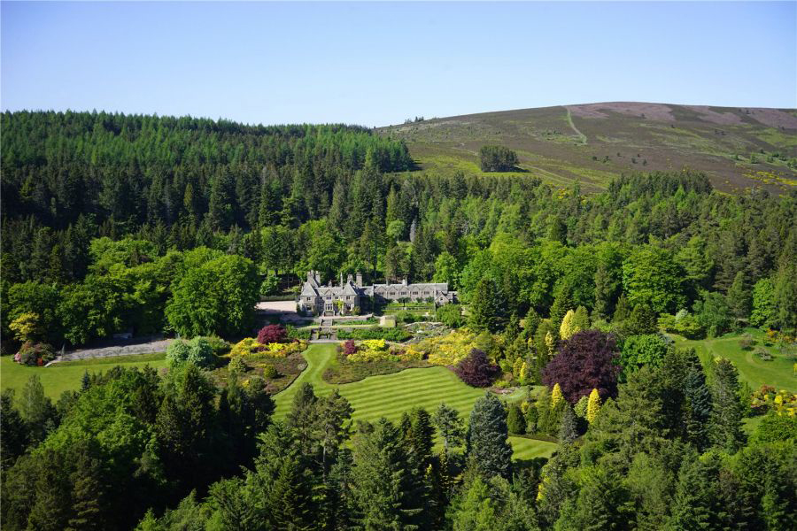 The 12,000-acre Tillypronie Estate, near Tarland,  including the 11-bedroom Tillypronie House.