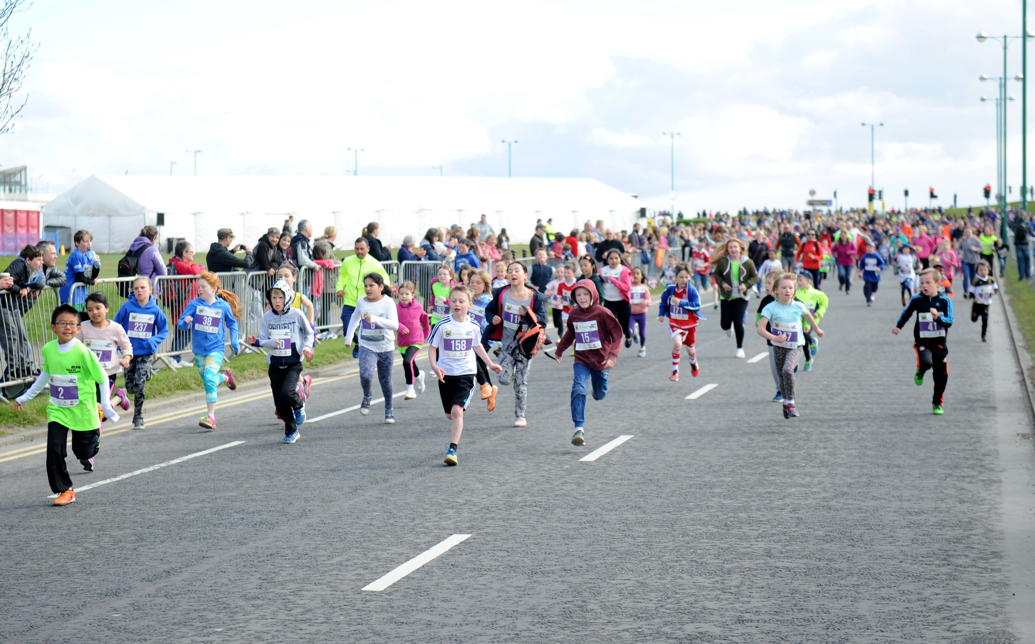 Lots of children enjoyed the fun run as part of the Baker Hughes 10K race in May.