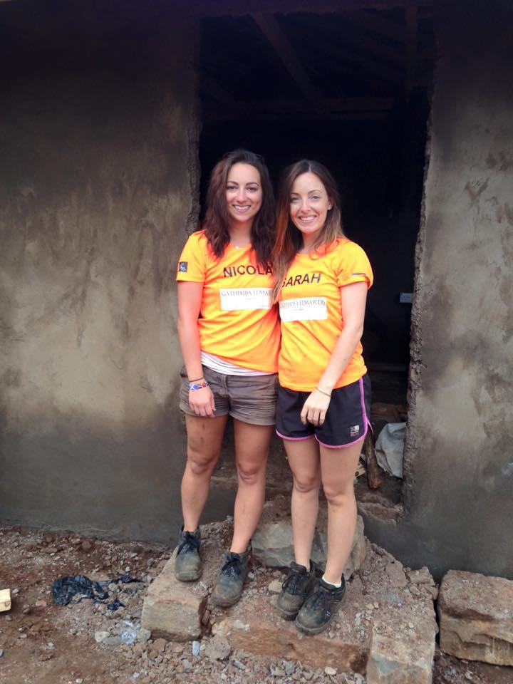 Nicola with Sarah, another volunteer