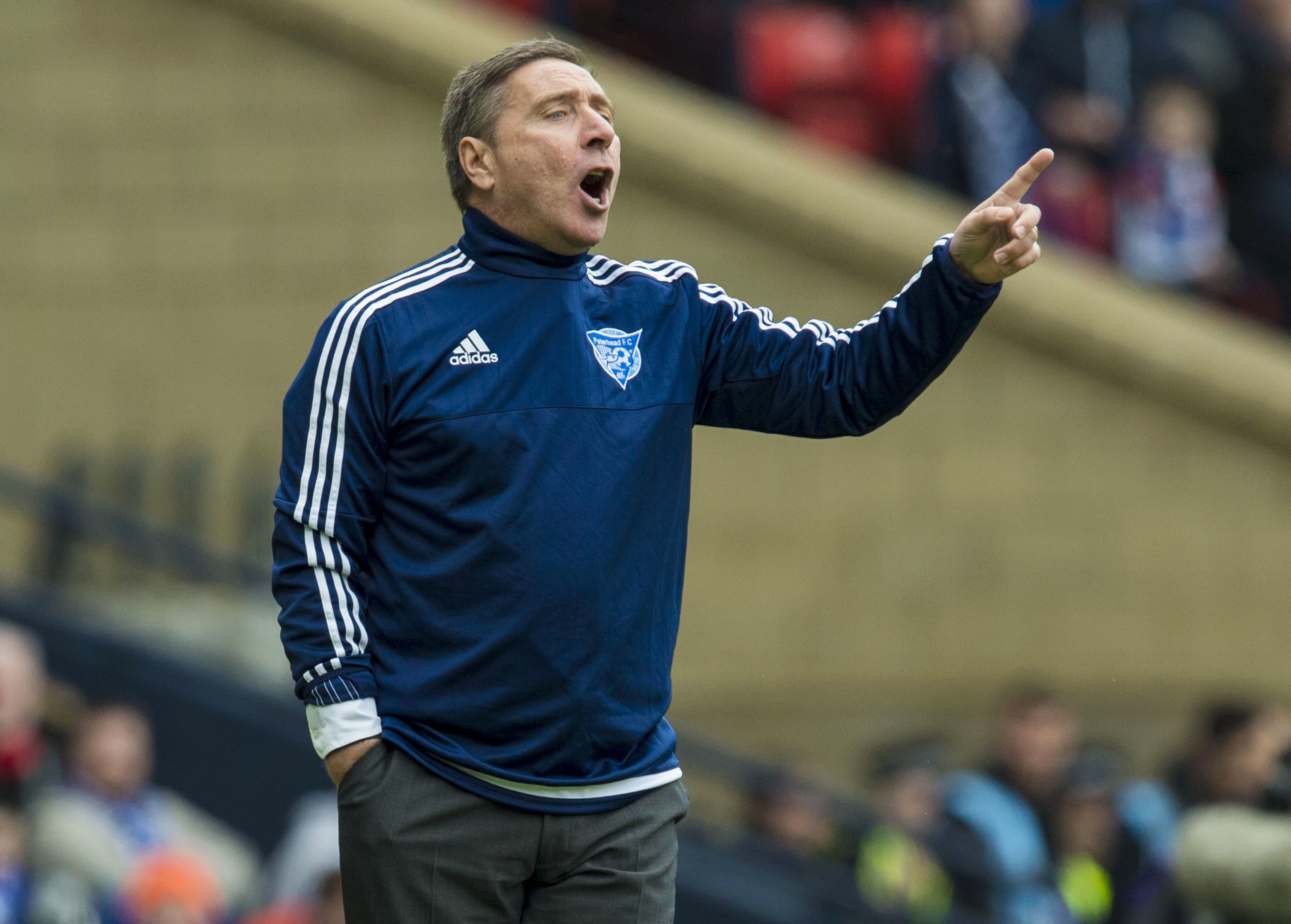 at a loss: Peterhead manager Jim McInally.