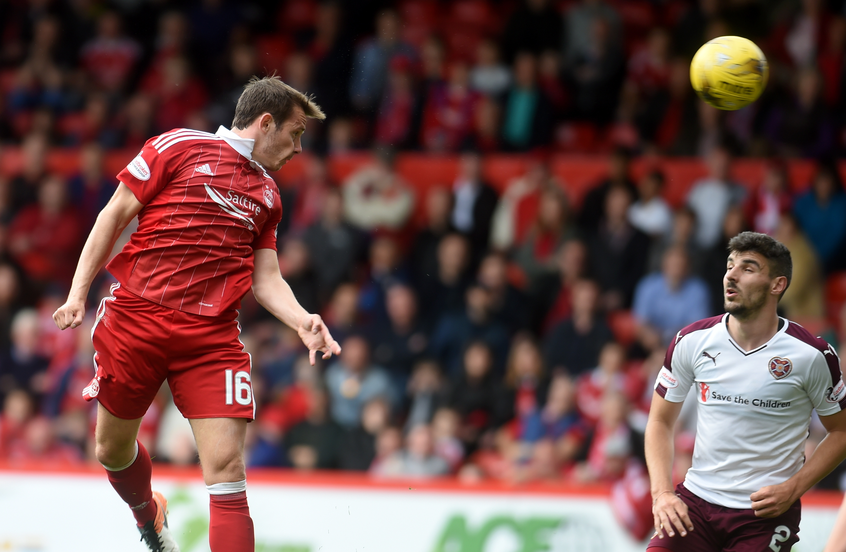 Peter Pawlett in action against Hearts.