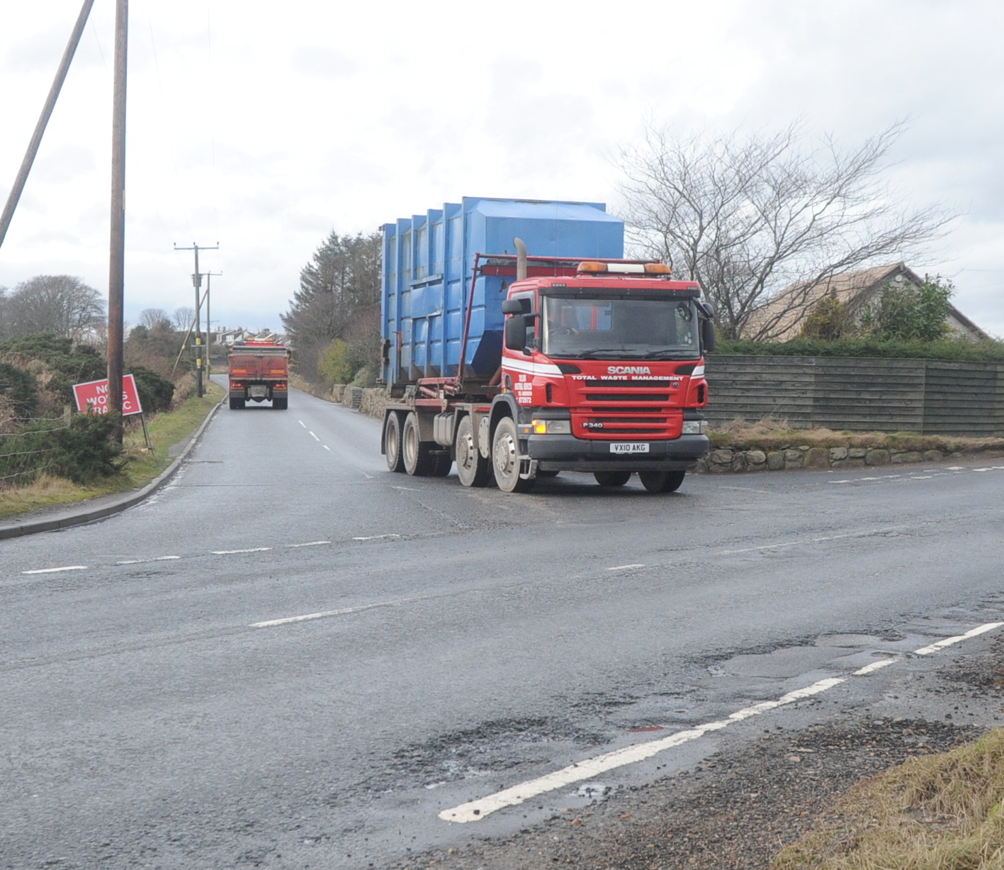 A call has been made to ban HGVs on certain roads.