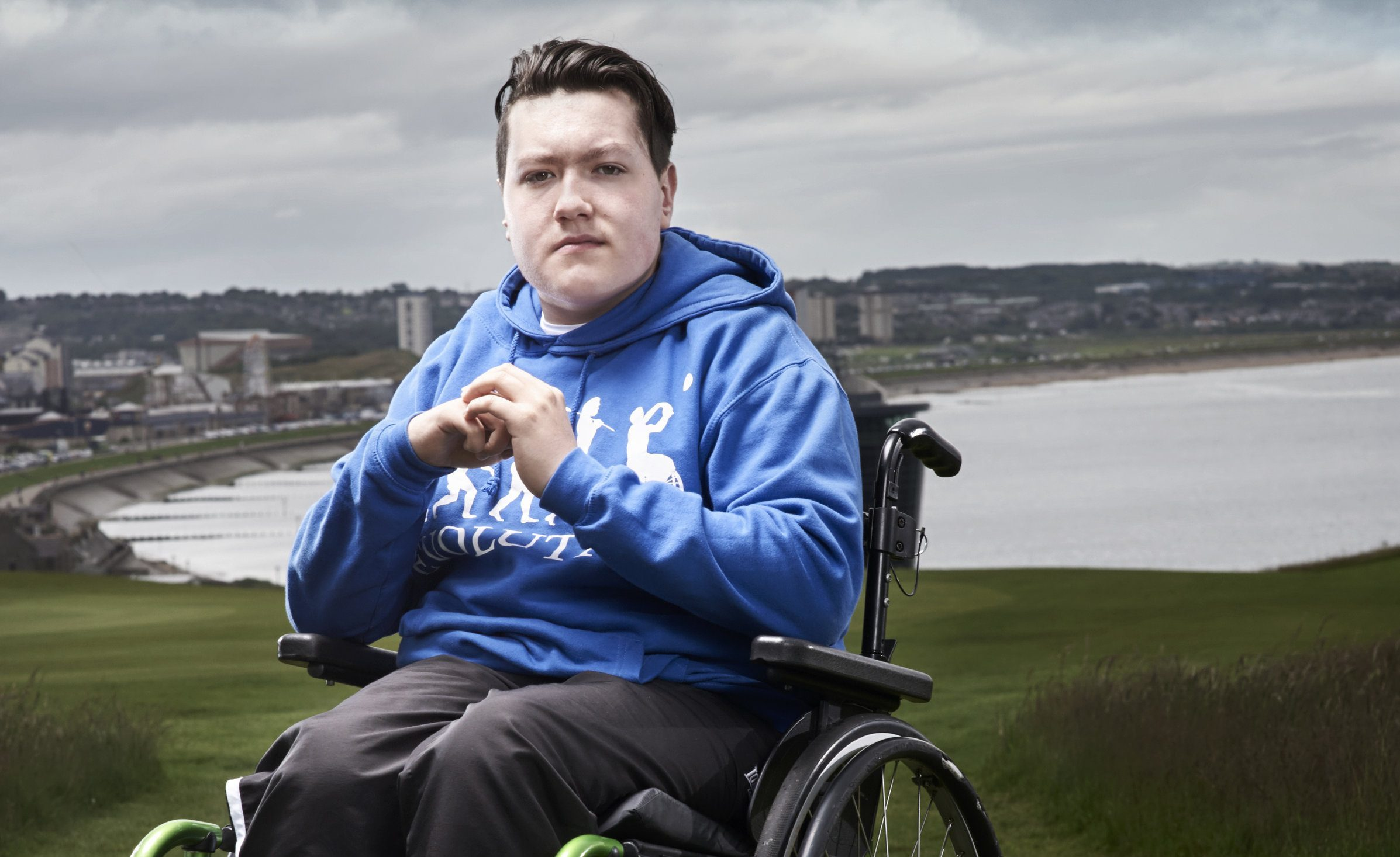 Teenager Jay Moir said taking part in wheelchair basketball had helped him.