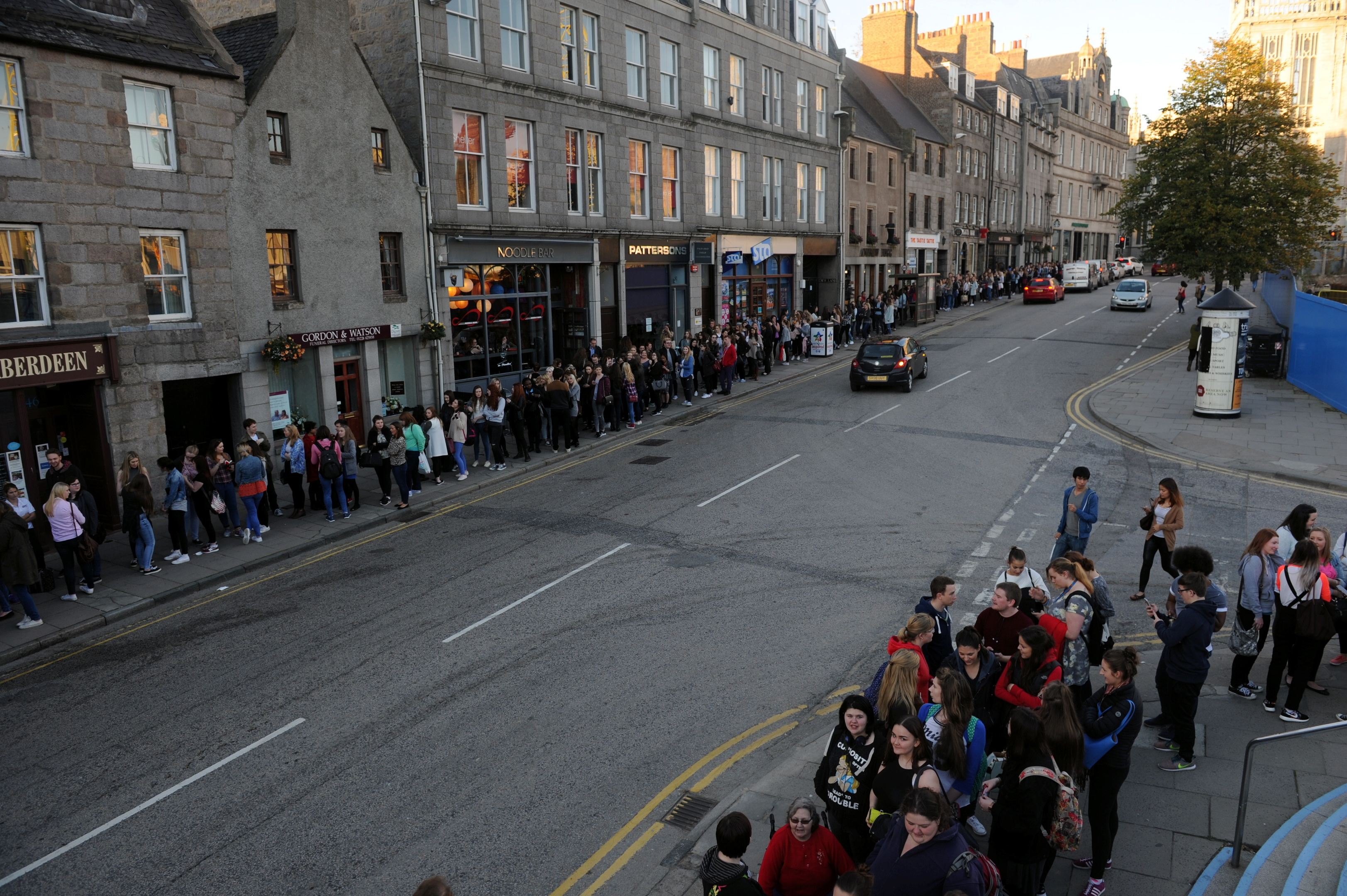 Huge queues formed as excited students prepared for last year's event.