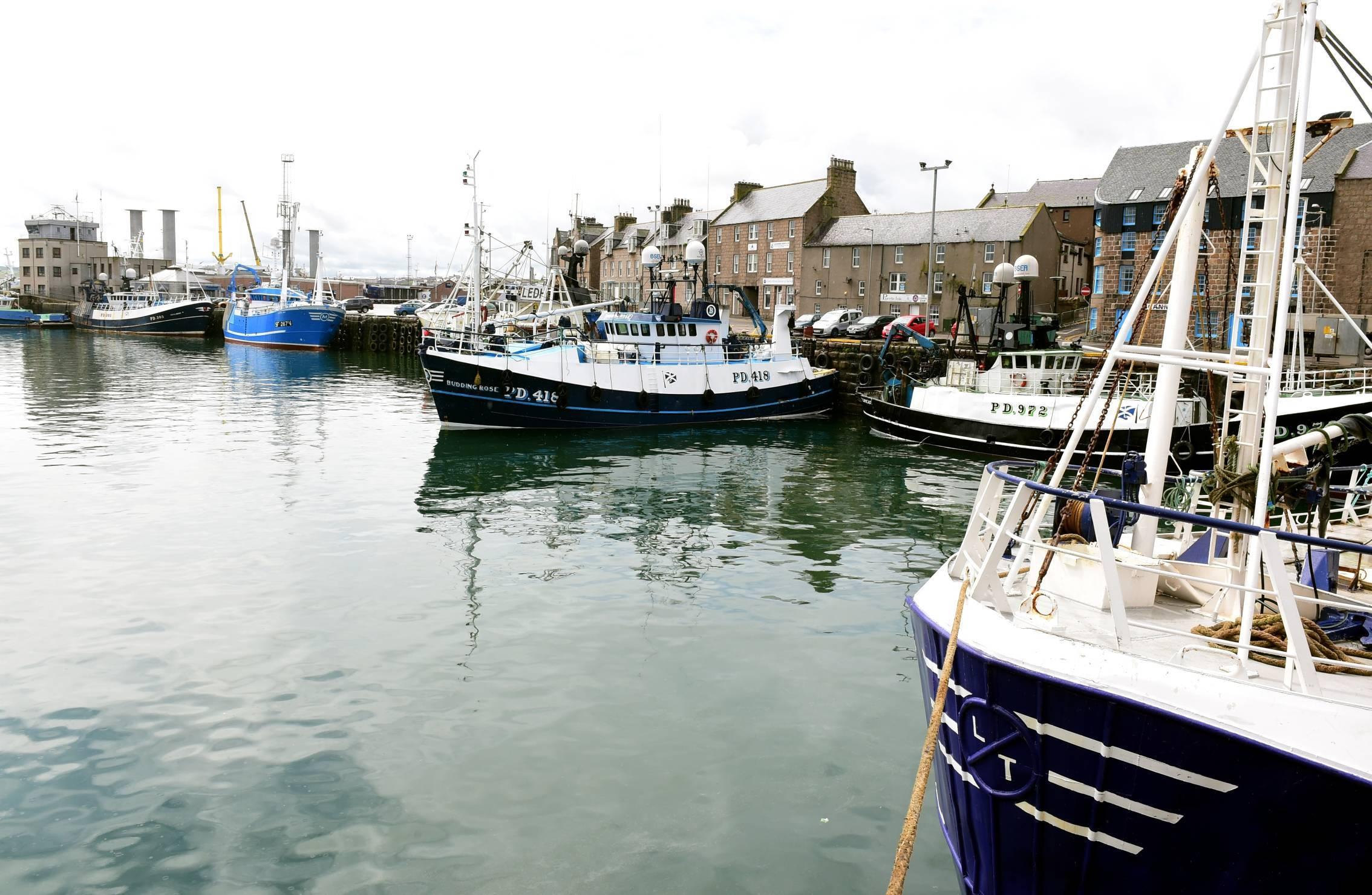 Peterhead harbour.