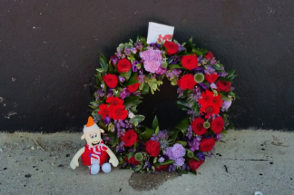 Part of the tributes in Maribor.