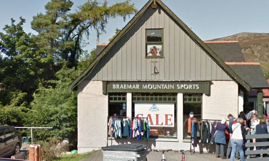 Braemar Mountain Sports was targeted. Picture: Google 2015.