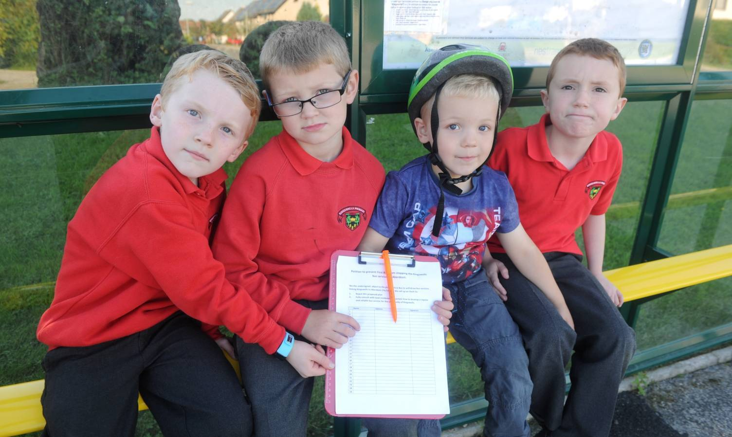 Pictured are from left, Logan Taylor, 7, Clarke White, 7, Aiden Taylor, 3 and Zak Graham, 7.