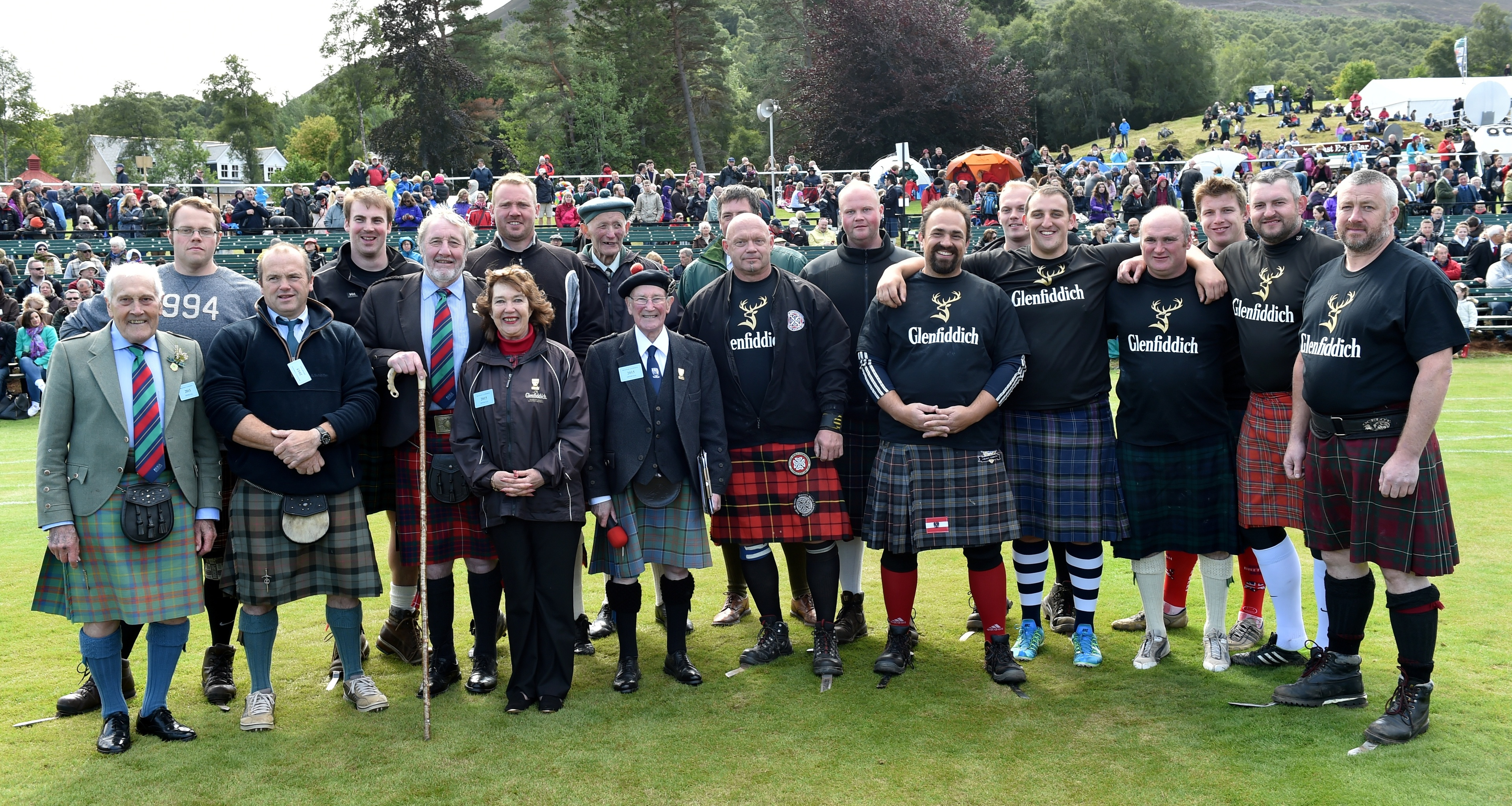 Robbie Shepherd, pictured centre holding the microphone, has stepped down as a caller for the Braemar Gathering.