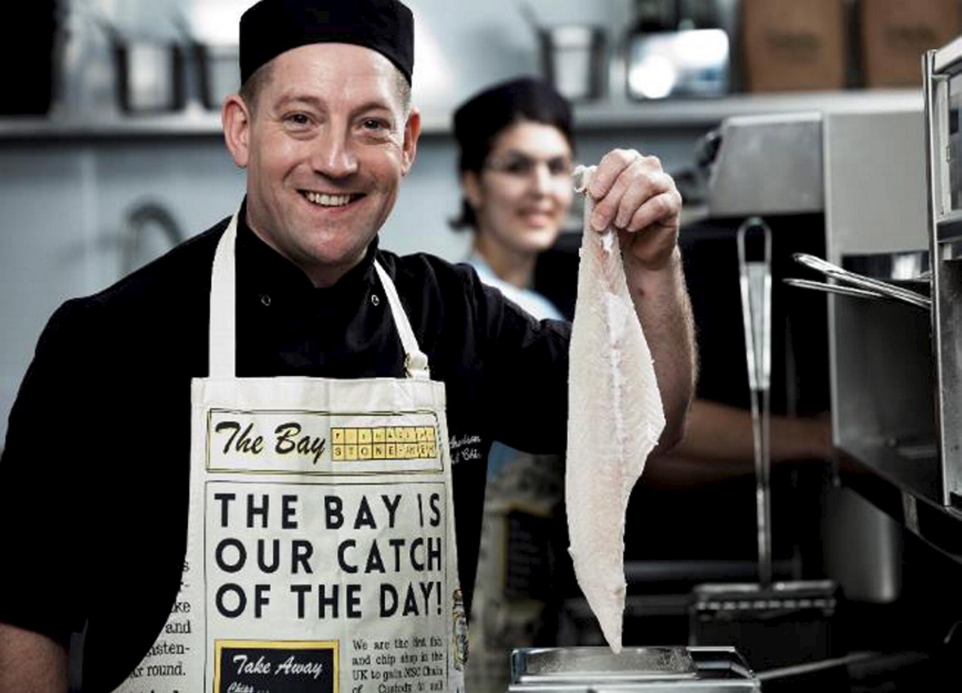 Visit:  Calum Richardson of the Bay Fish & Chip Shop