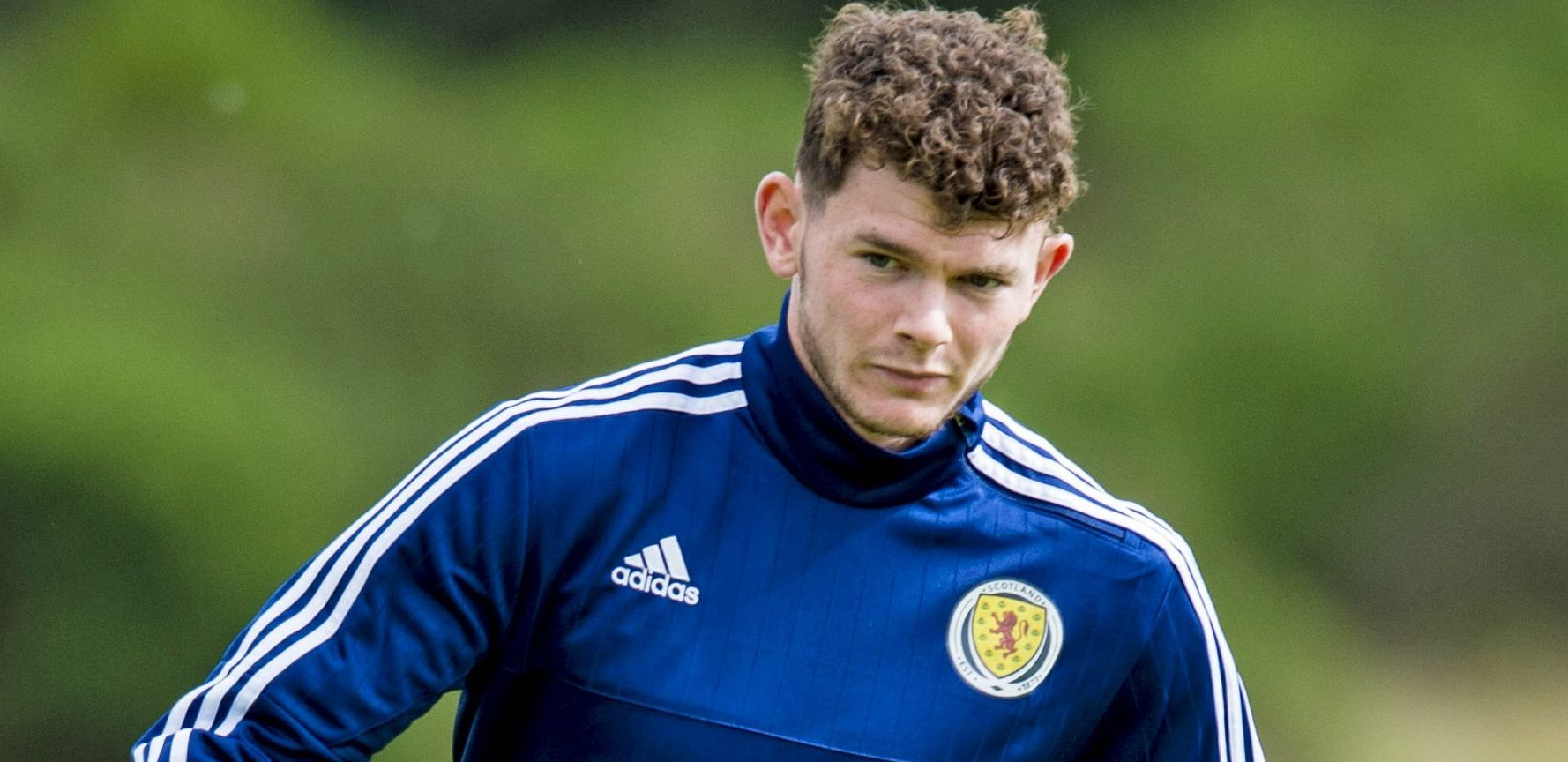 Oliver Burke in Scotland training.