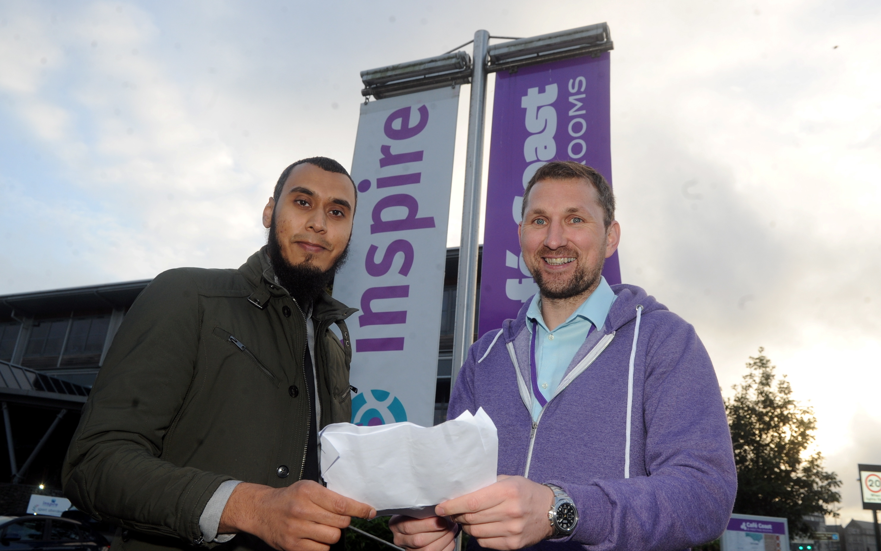 From left, Mamun Razzak, co-ordinator of the event and Peter Wood of Inspire.