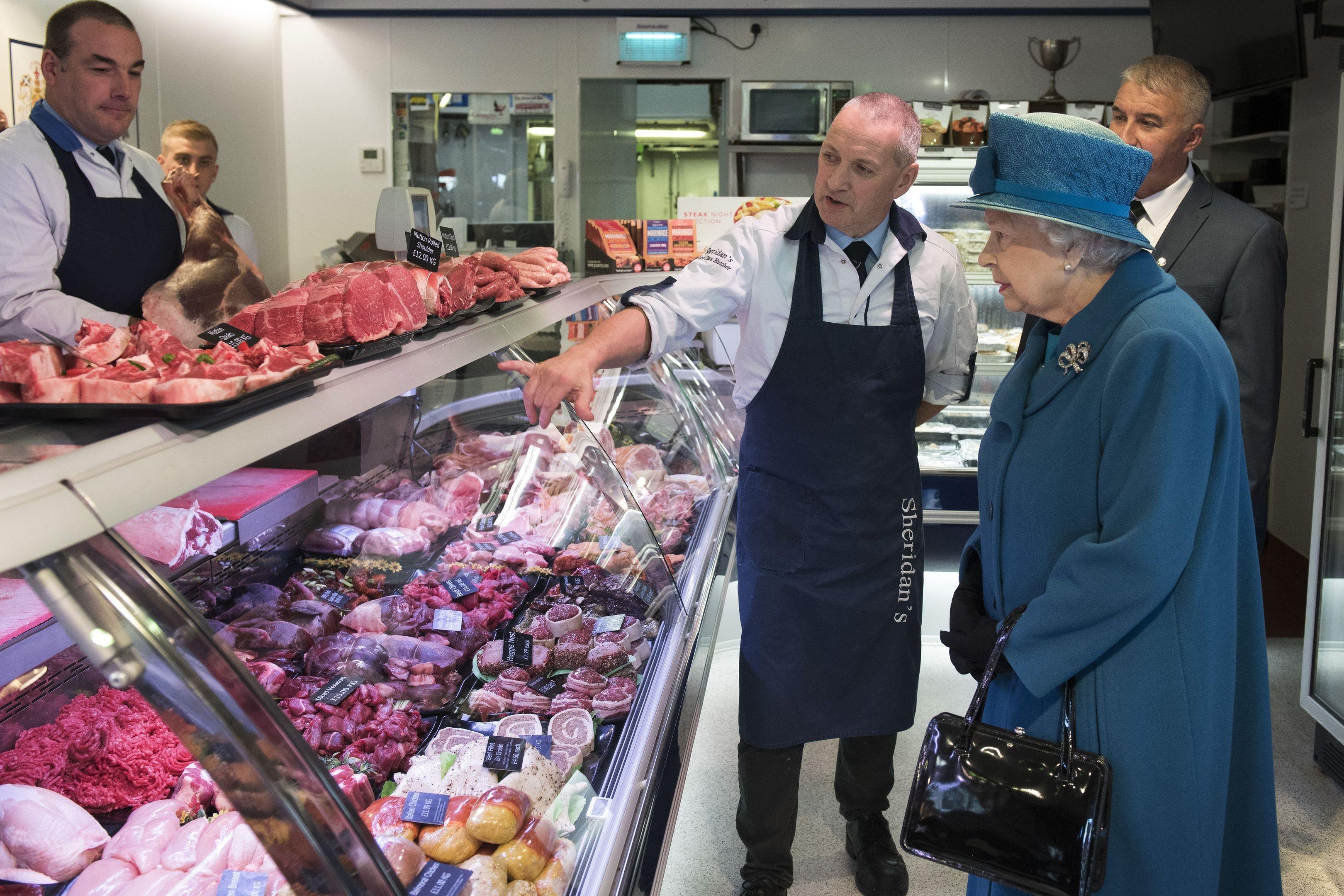 Award: The Queen visiting HM Sheridan.