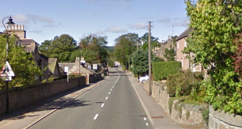 The crash happened on North Deeside Road at  Kincardine O'Neil. Picture: Google 2016.