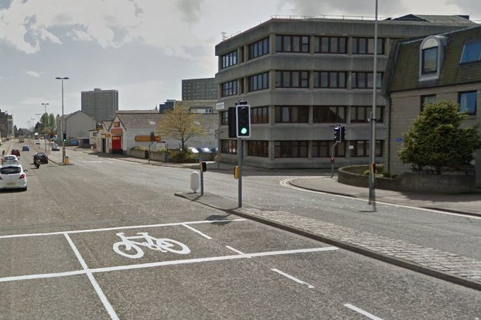 The crash happened on Powis Place. Picture: Google 2015.