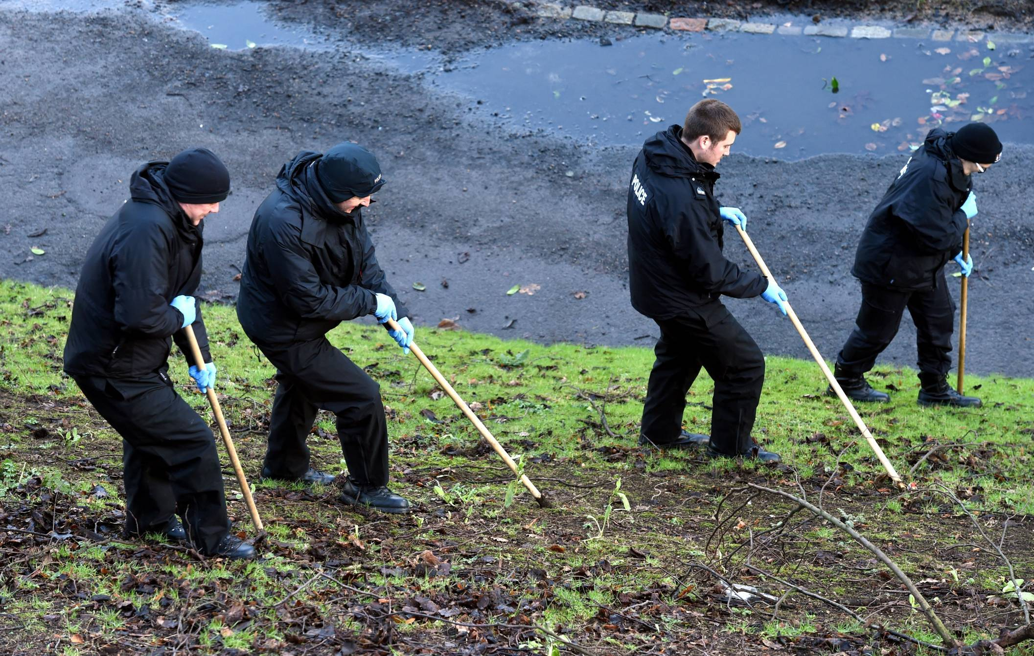 Police Scotland officers searched Union Terrace Gardens following the incident.