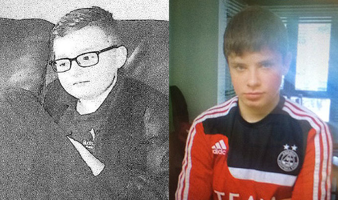 From left, Liam Munro, 13, and Luke McDonald, 16, are missing.