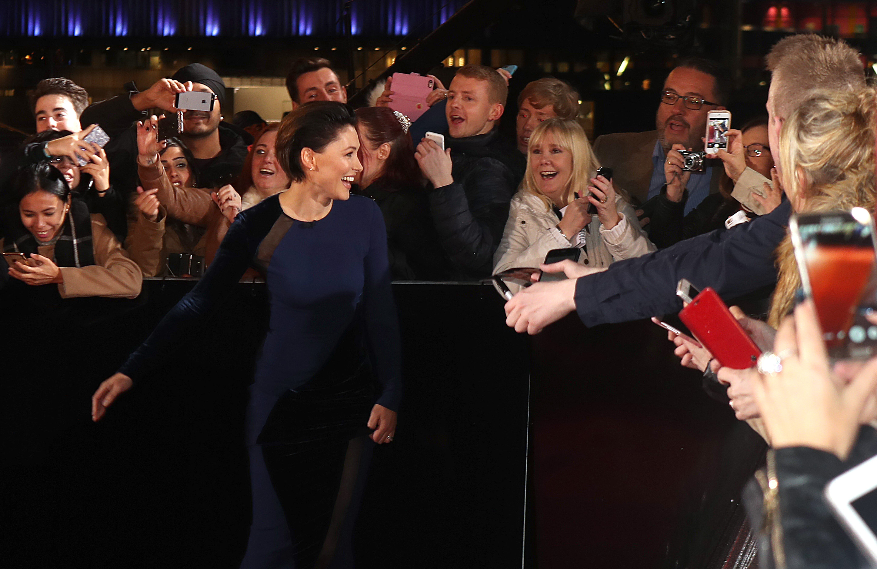 Emma Willis arriving for The Voice UK auditions at The Voice UK Dock 10, Media City Blue, Salford, Manchester.