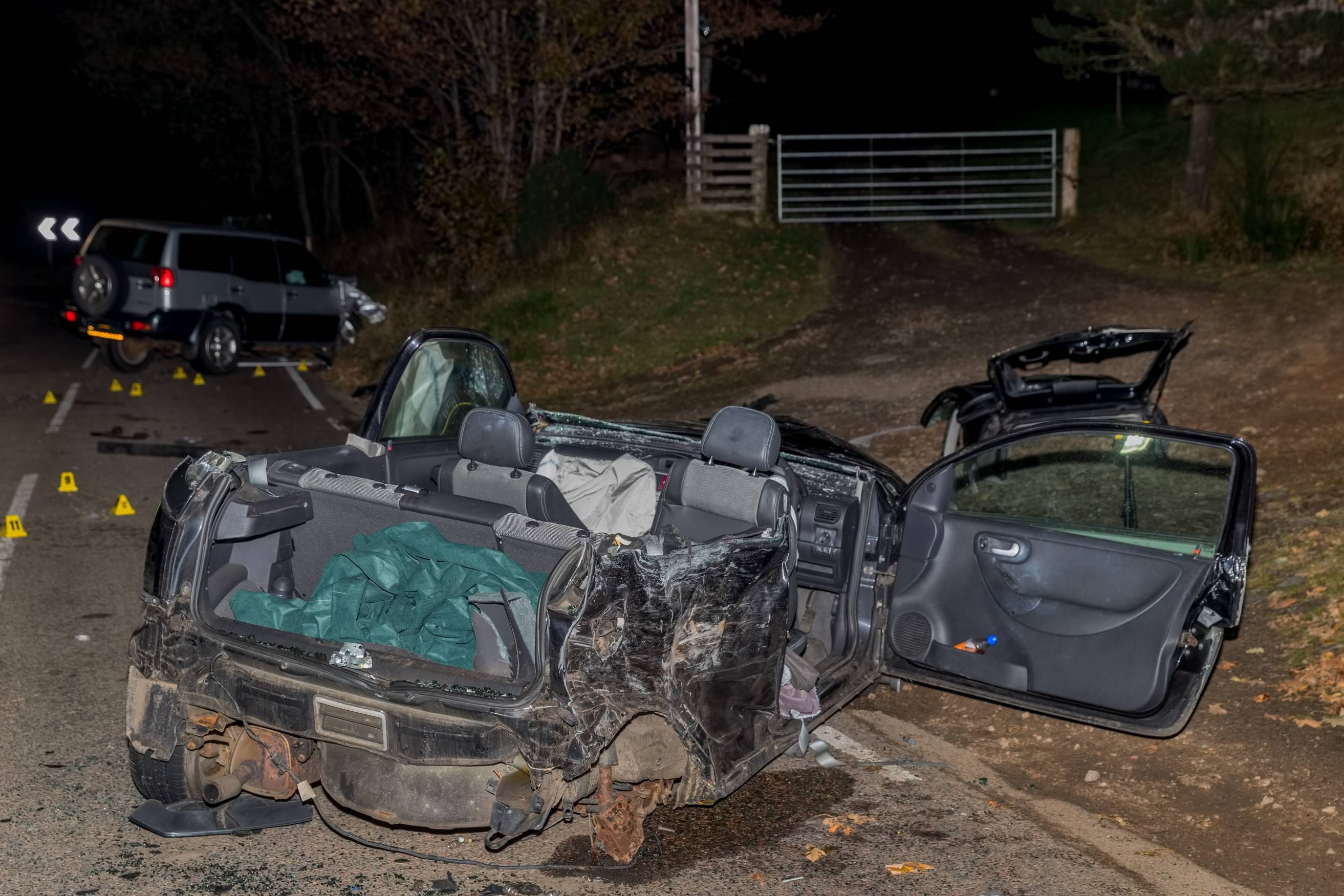 A 14-year-old girl died following the crash on the B9016 Keith to Buckie road near Rye Riggs, Aultmore.