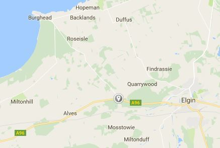 The incident took place on the A96 at its junction to Burghead. Picture: Google Maps