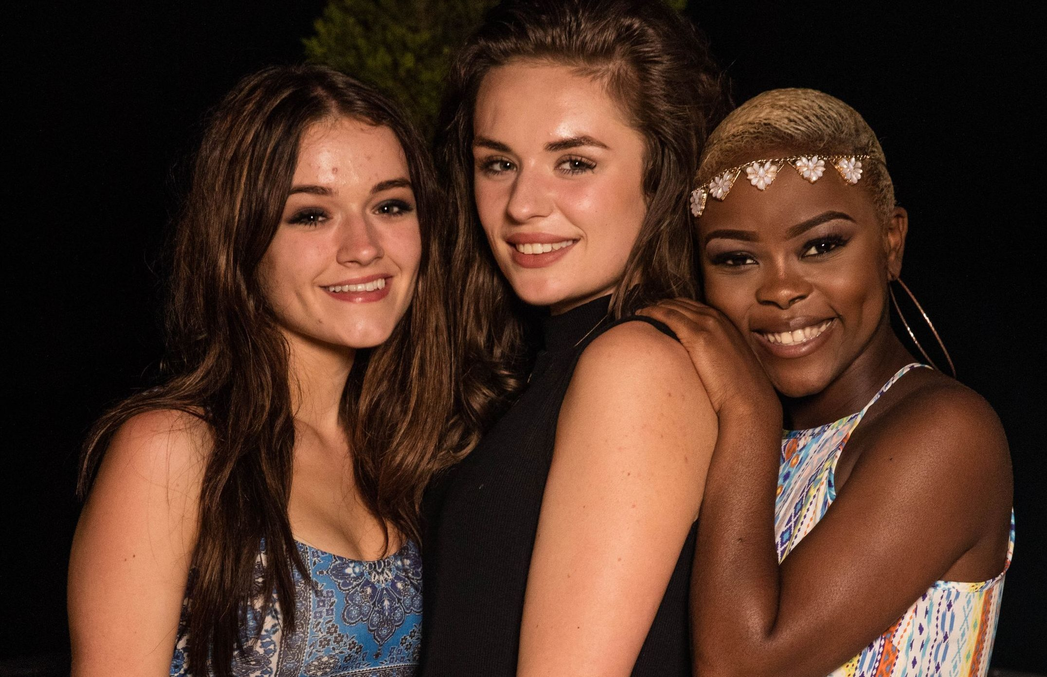 Emily Middlemas, Samantha Lavery and Gifty Louise.