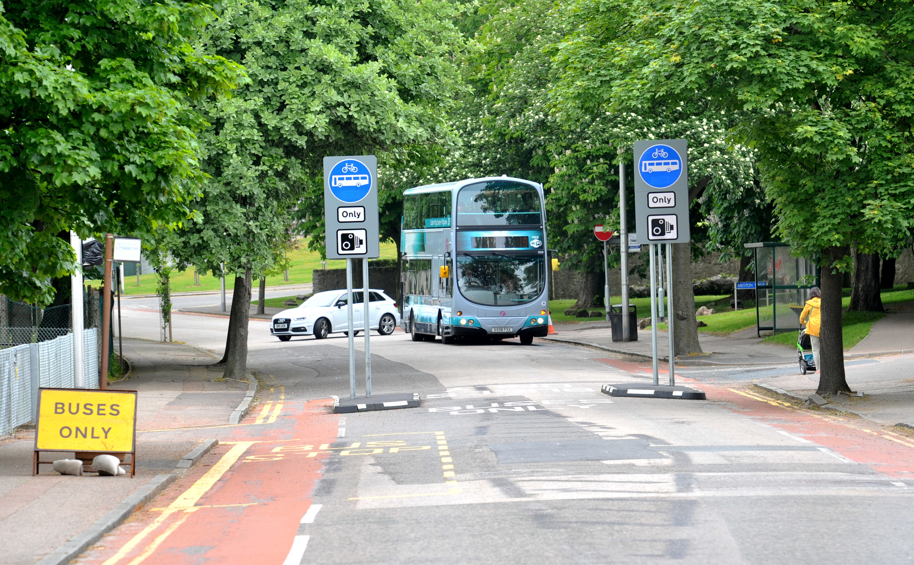Only buses and cyclists have been able to use the road since the measure was introduced, but concerns have been raised over its impact.