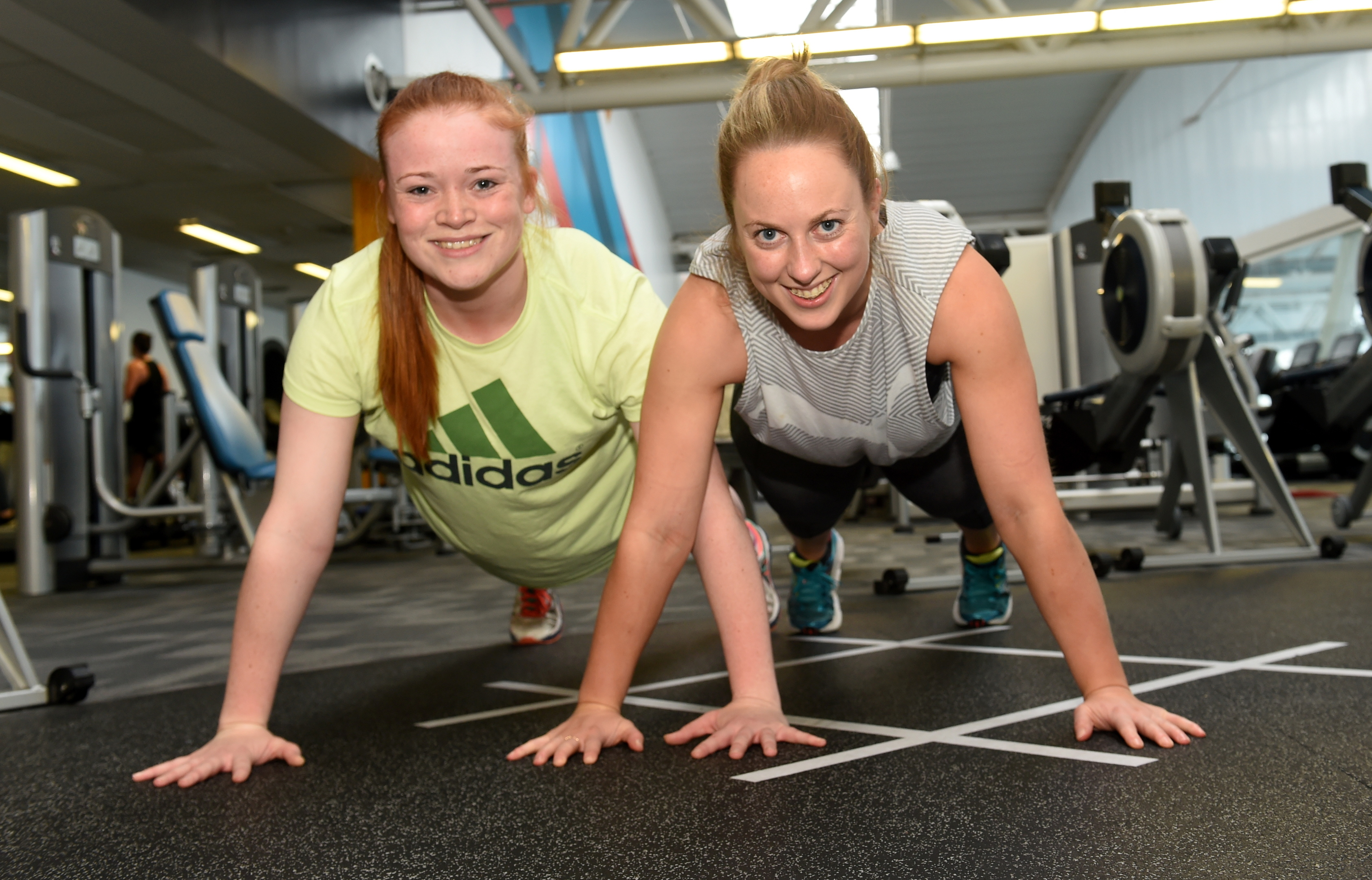 Victoria, left, and Becci benefit from being 'gym buddies'.