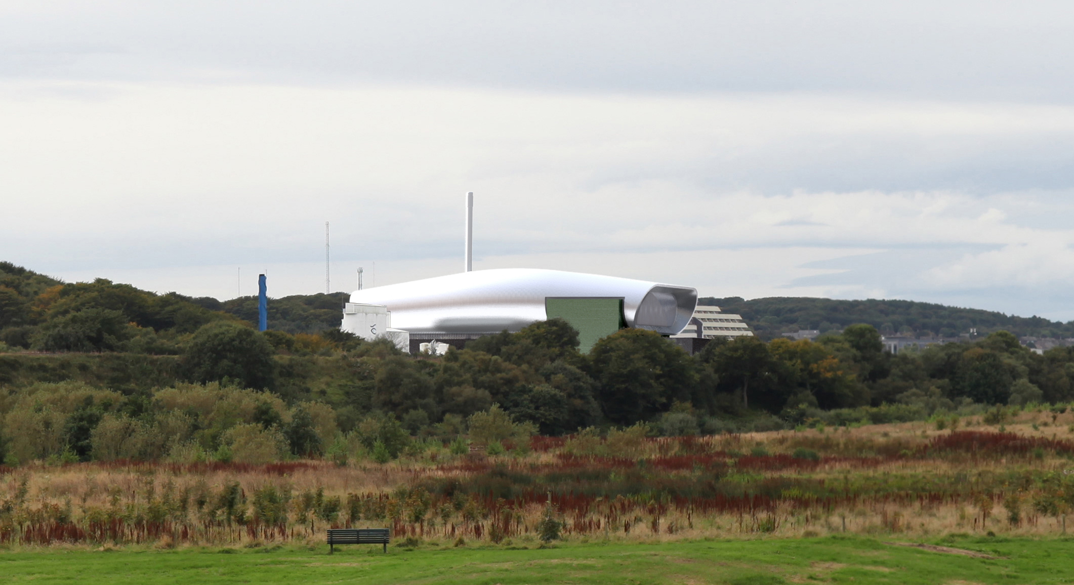 An artist's impression of how the waste energy plant could look in Tullos.
