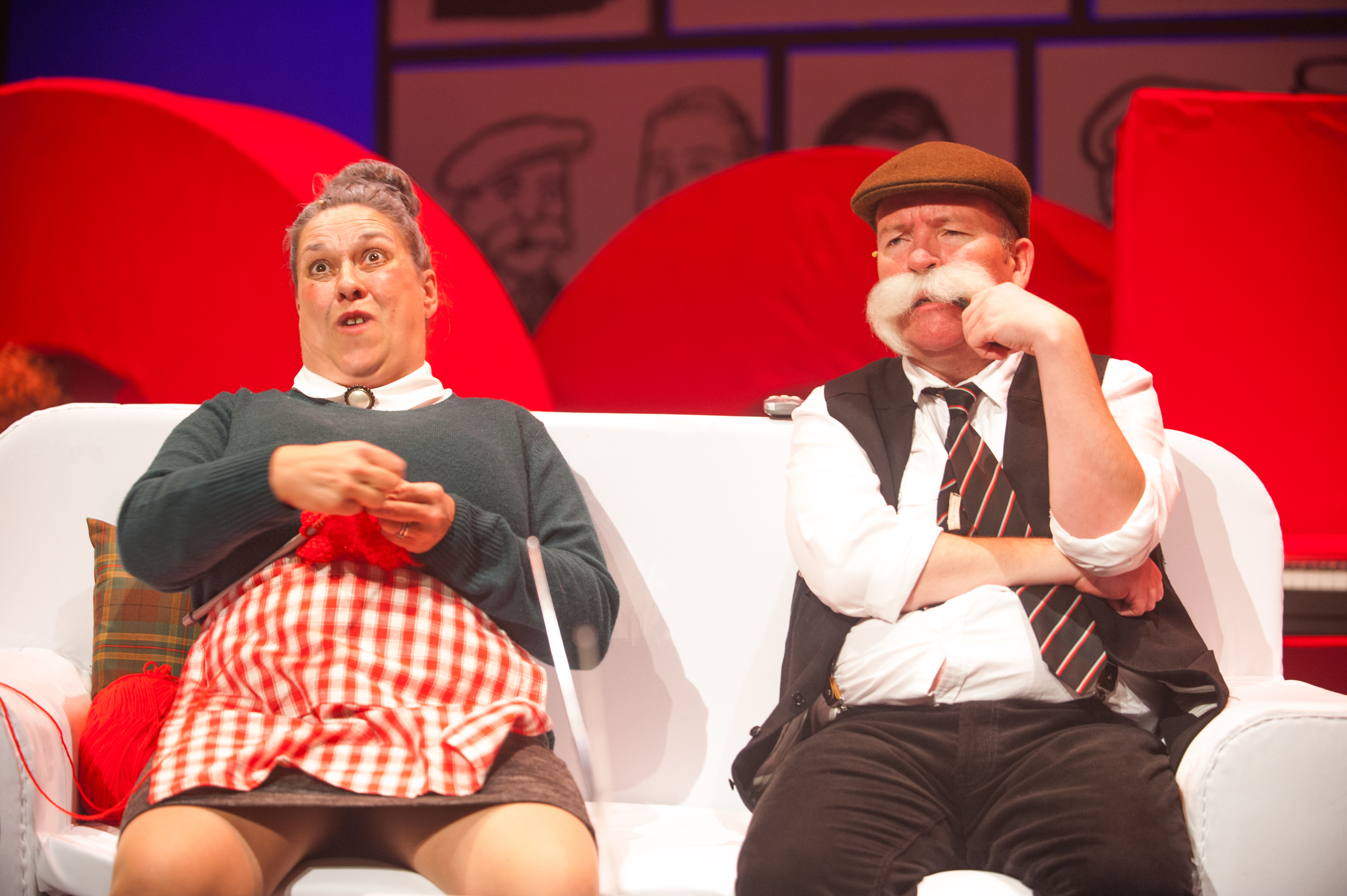 Joyce Falconer  and Paul Riley  as maw and paw broon