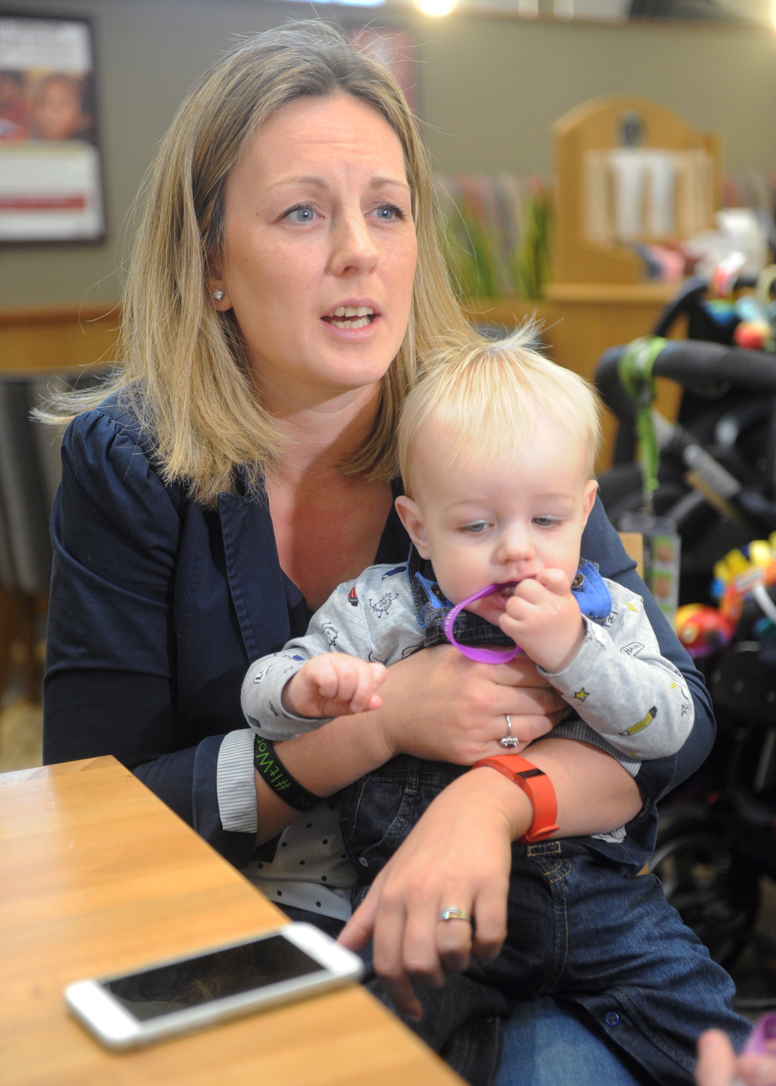 Kerri Milne with her son Lachlan.