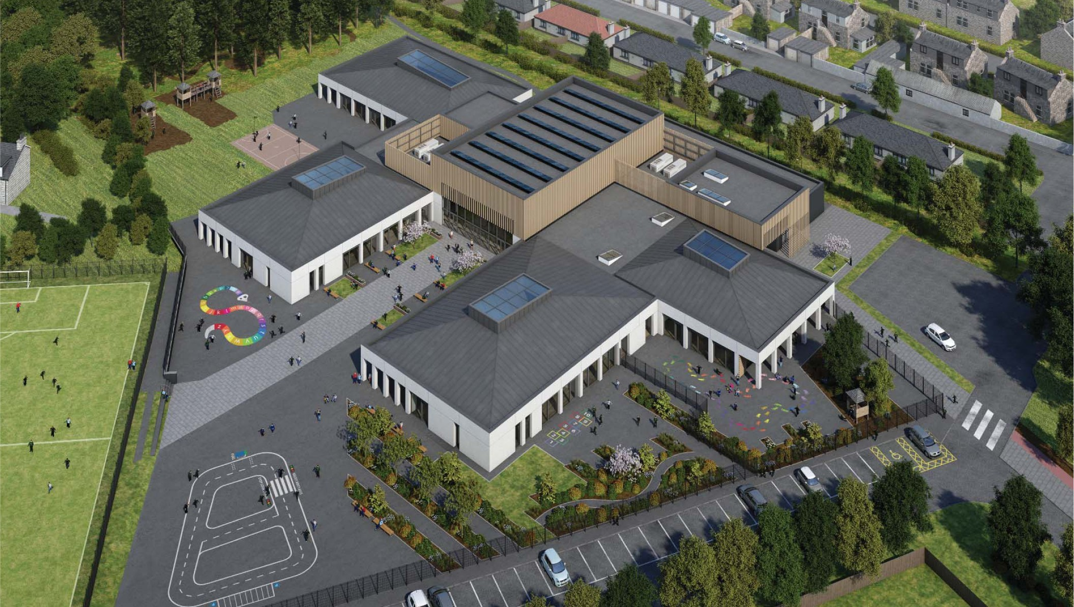 An artist's impression of the new Stoneywood School in Aberdeen.