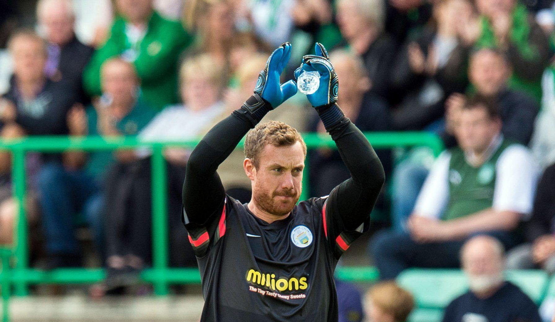 Morton goalkeeper Andy McNeil.