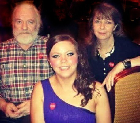 Crash victim Harry McPherson, partner Patricia McPherson and their daughter Elaine, front.