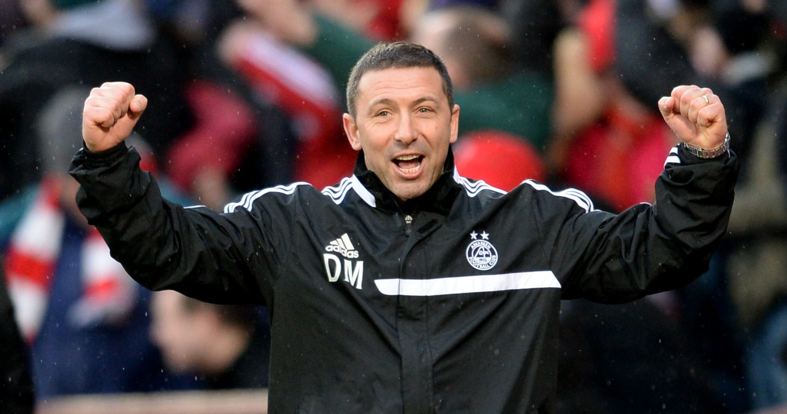 Derek McInnes celebrates as Aberdeen beat St Johnstone in the 2014 semi-final.