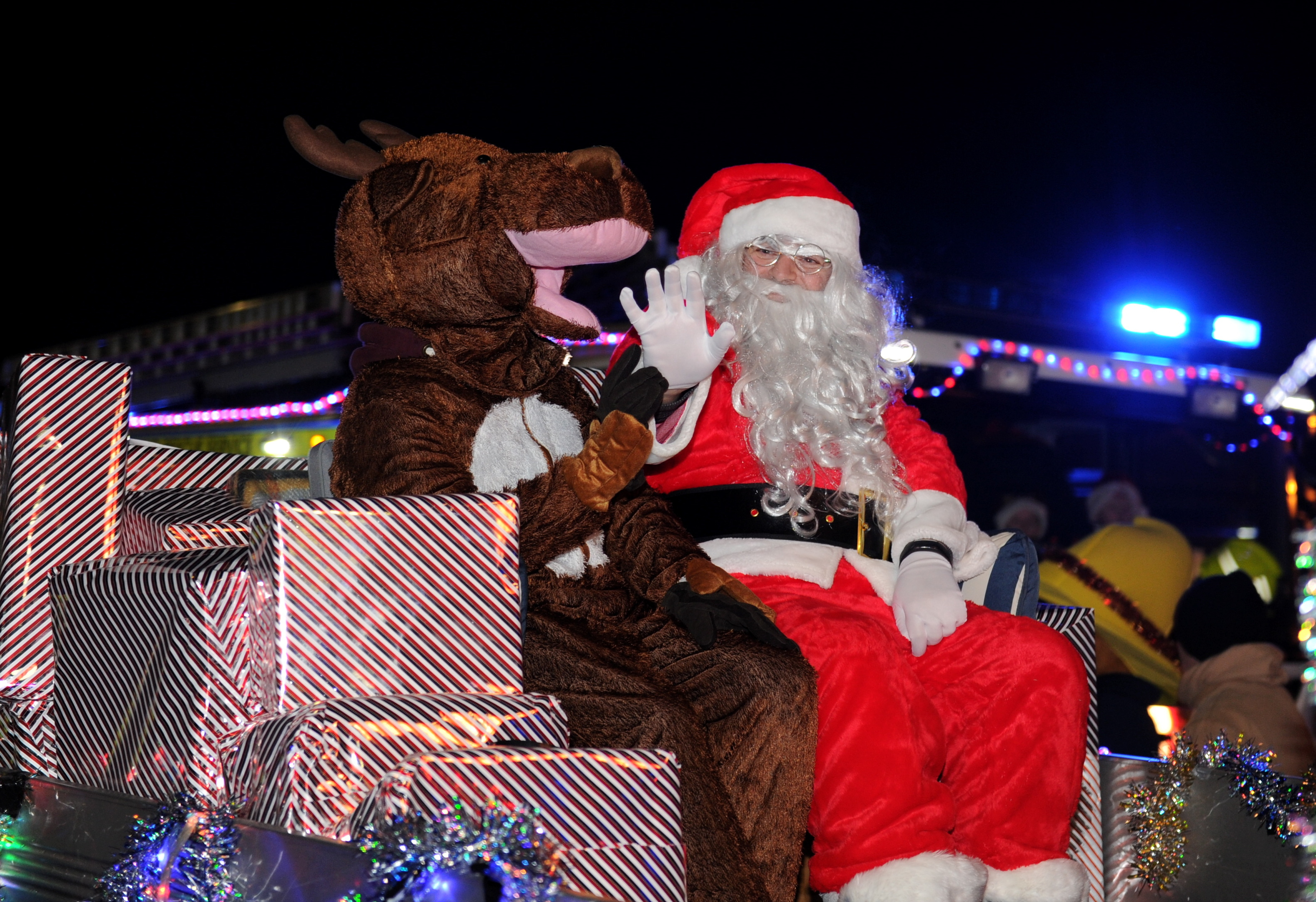 Santa Claus at the Ellon Christmas Lights Switch on last year.