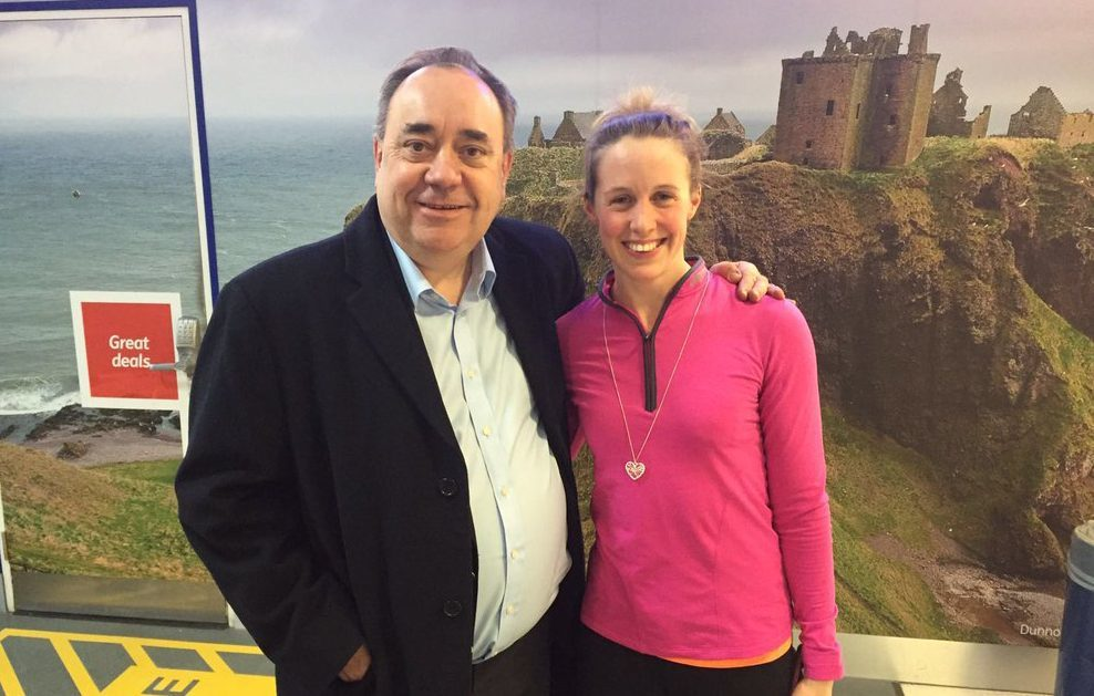 Alex Salmond with Hannah Miley.