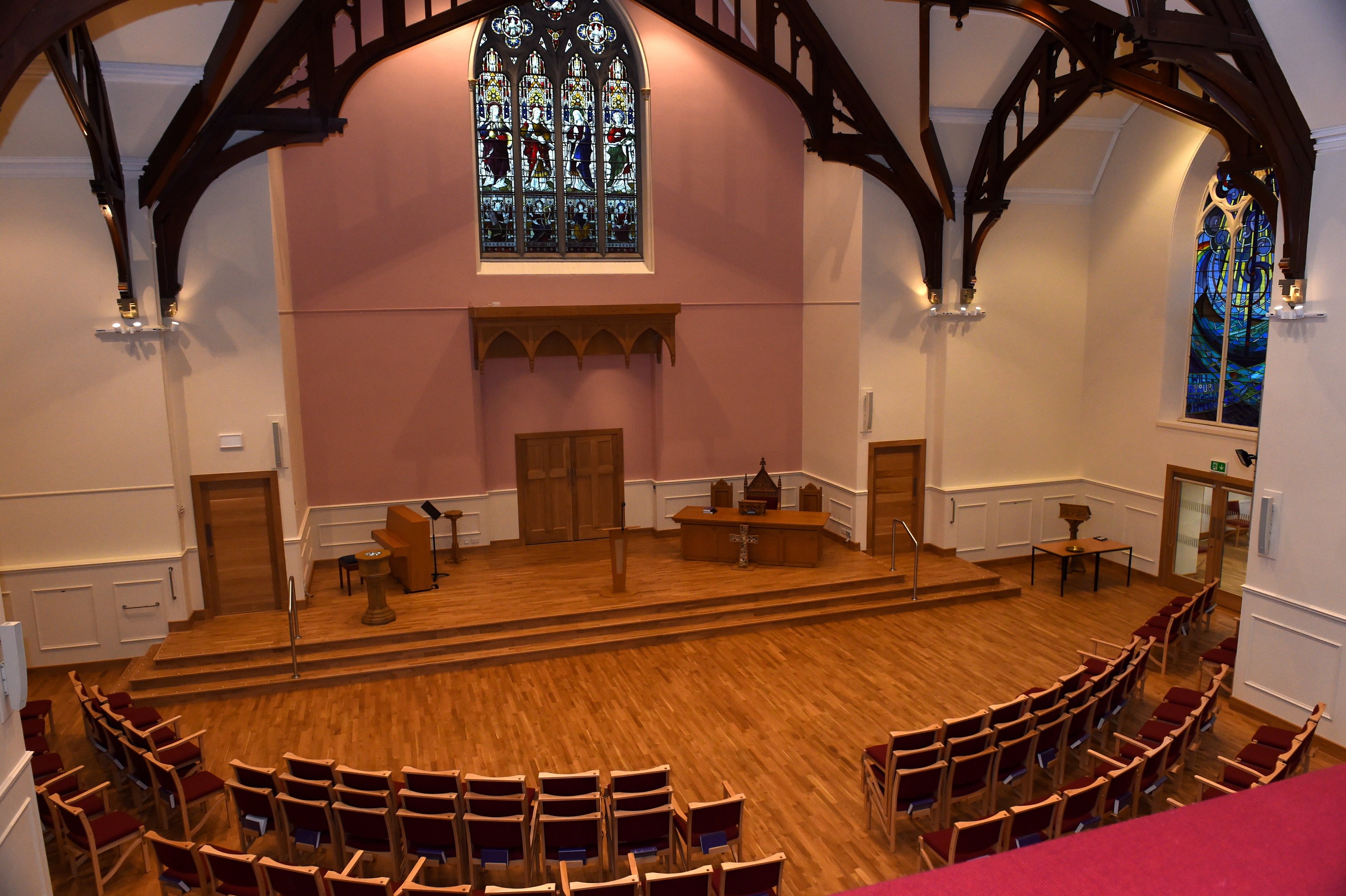 pleased:    Rev Keith Blackwood is delighted with the upgrade.