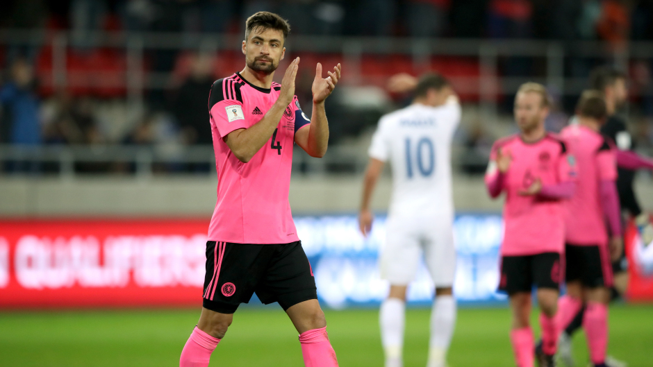 Scotland's Russell Martin after the 3-0 defeat to Slovakia
