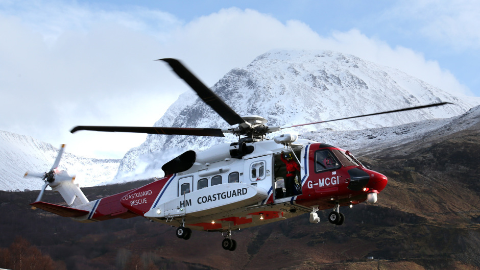 A search and rescue helicopter was used during the search.