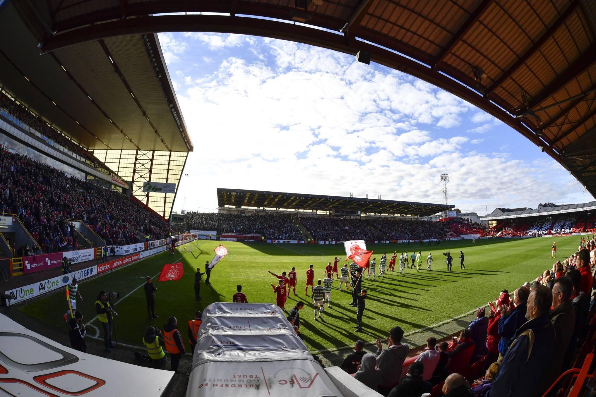 Pittodrie Stadium.